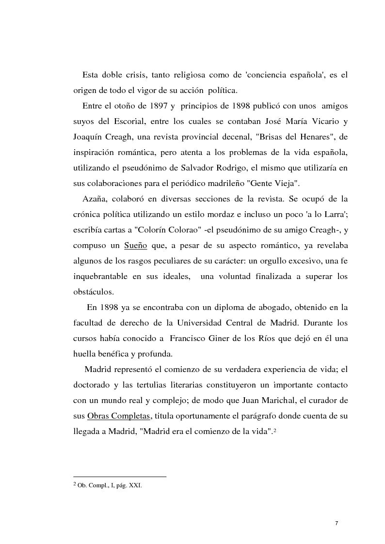 Anteprima della tesi: La razon olvidada - Los discursos políticos de Manuel Azaña, Pagina 8