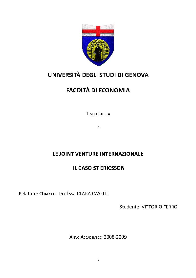Unige Tasse Economia : Universit? degli studi di genova facolt? economia t esi
