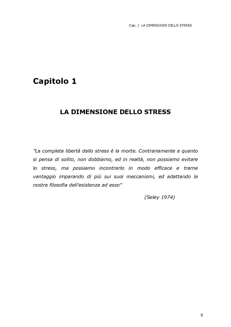 Anteprima della tesi: La dimensione dello stress nel personale sanitario impegnato nel dispatch telefonico nelle A.A.T. 118 Lombarde: ricerca di un modello di supporto, Pagina 5