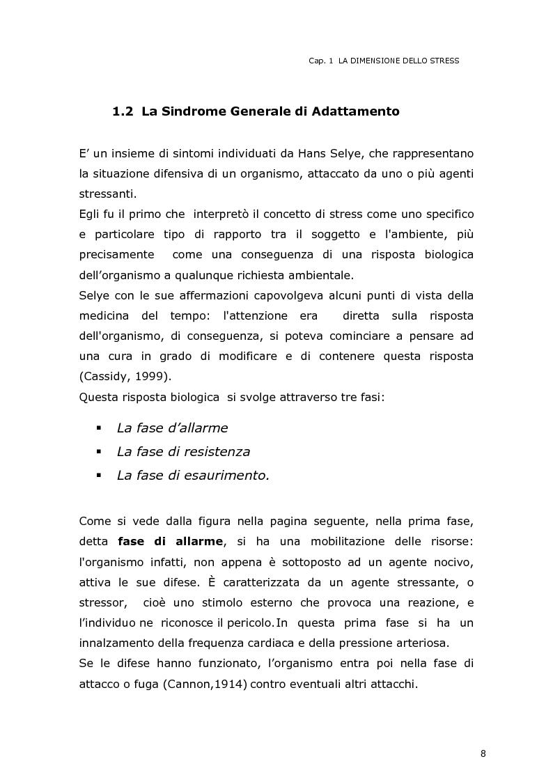 Anteprima della tesi: La dimensione dello stress nel personale sanitario impegnato nel dispatch telefonico nelle A.A.T. 118 Lombarde: ricerca di un modello di supporto, Pagina 7