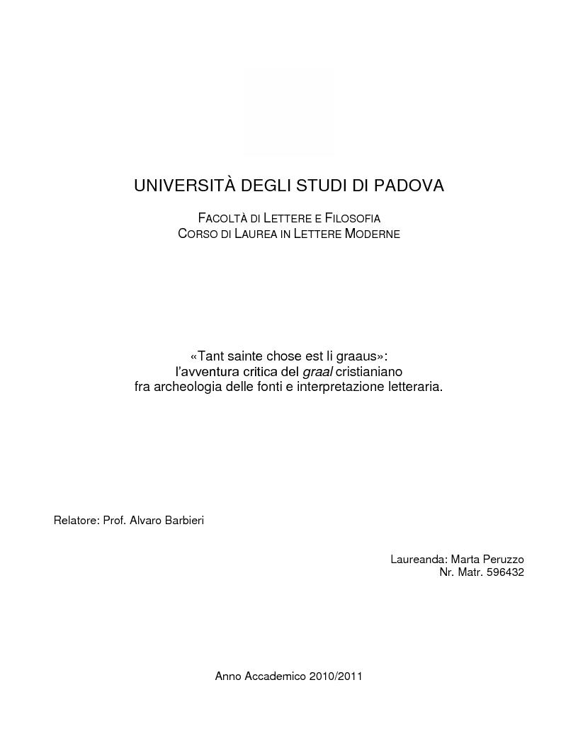 Universit degli studi di padova facolt di lettere e for Lettere moderne
