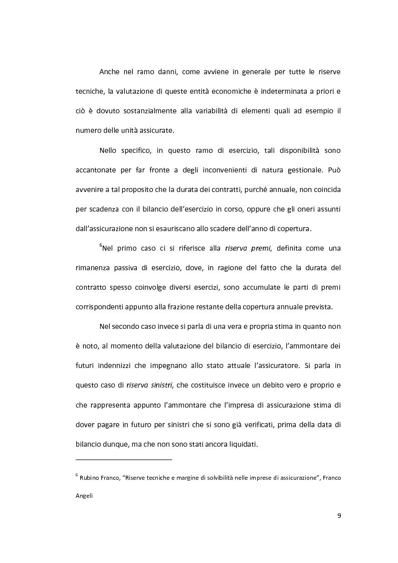 Anteprima della tesi: Metodi di valutazione per la stima della riserva sinistri, Pagina 8