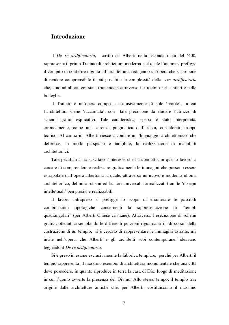"""I 'Numerosi' Templa di Alberti. Restituzioni grafiche delle combinazioni tipologiche dal """"De Re Aedificatoria"""" - Tesi di..."""
