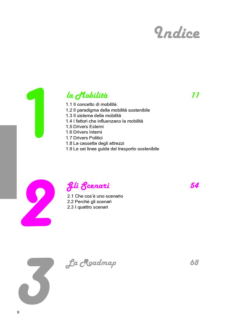 roadmap della mobilit sostenibile indice pagina 1 di 2