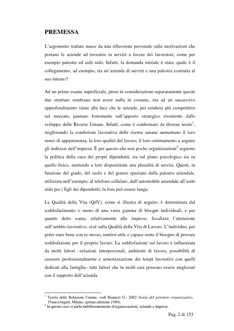 Il Capitale ''Risorsa Umana'' in impresa: formazione e qualit� della vita. il caso Enel - Tesi di Laurea