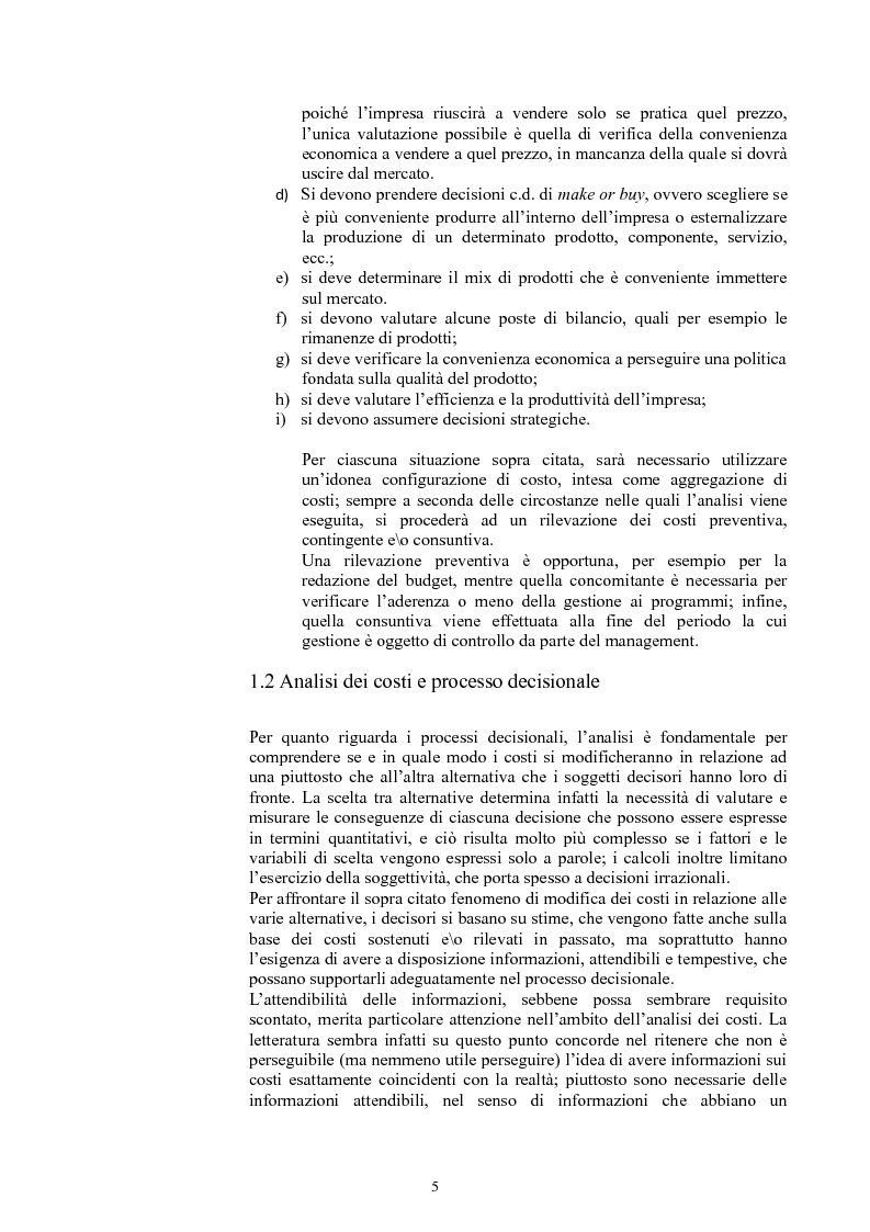 Anteprima della tesi: L'analisi dei costi nelle piccole imprese agricole, Pagina 4
