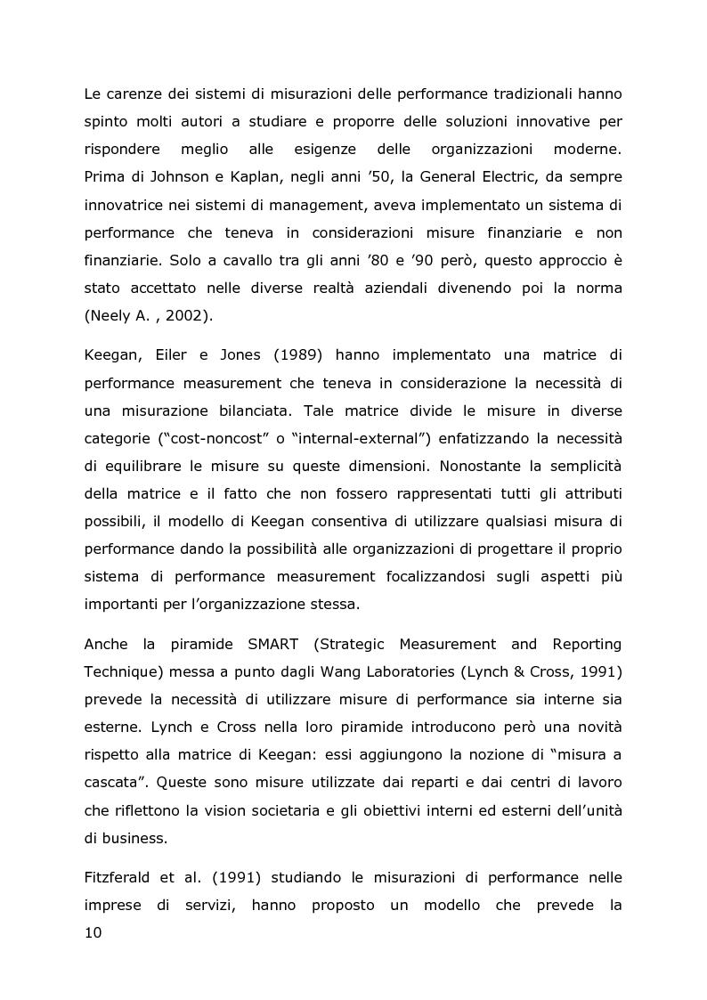 Estratto dalla tesi: Sistemi di misurazione delle performance di 3PL: il caso VISA Global Logistics