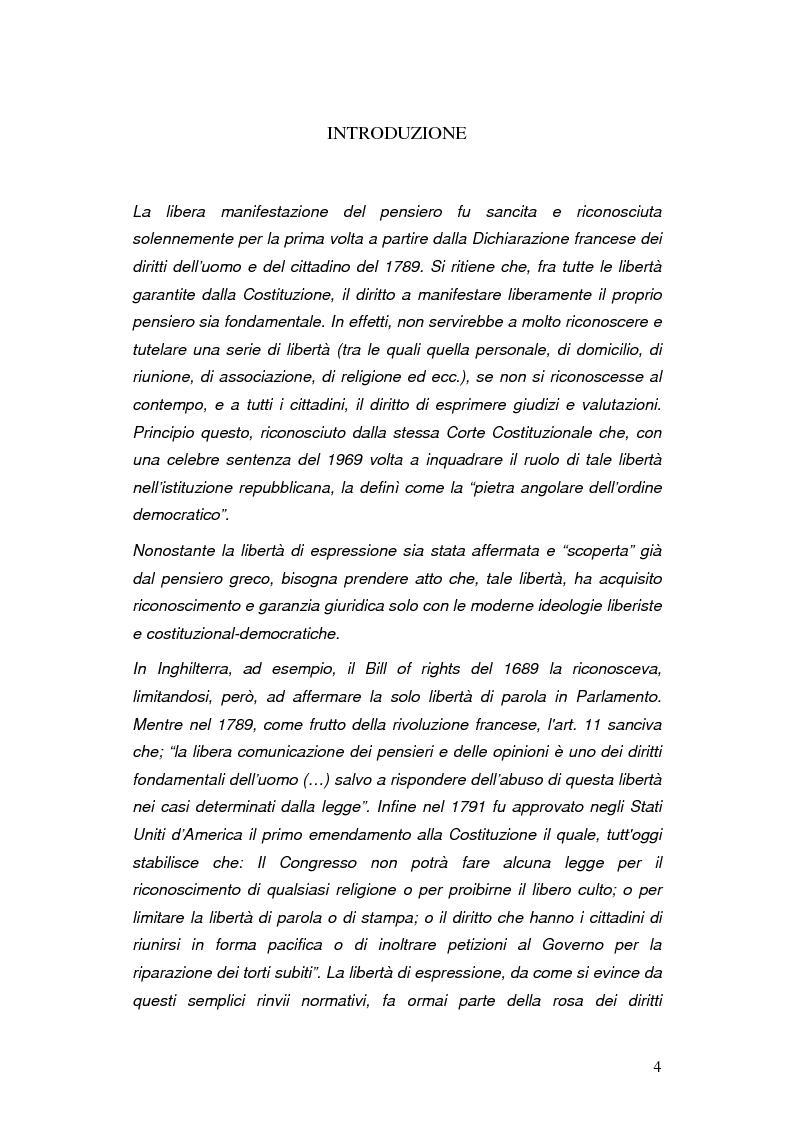 Profili costituzionali del diritto di satira - Tesi di Laurea