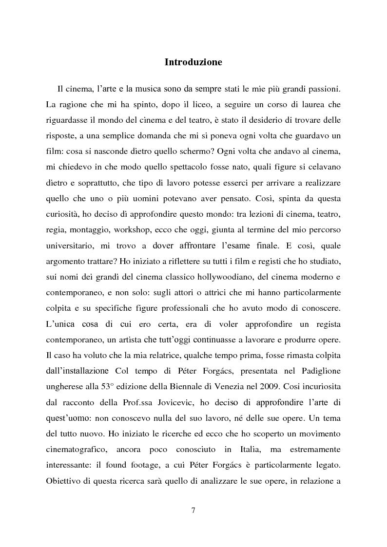 Found footage: la memoria delle immagini. P�ter Forg�cs e l'Ungheria privata - Tesi di Laurea