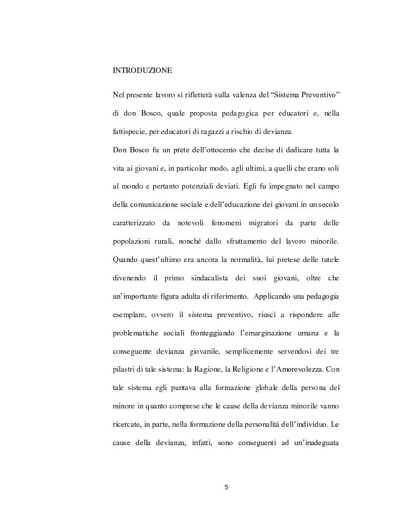 Il Sistema Preventivo di don Bosco: strumento motivante e d'apprendimento per educatori ed educandi in una societ� mafio...