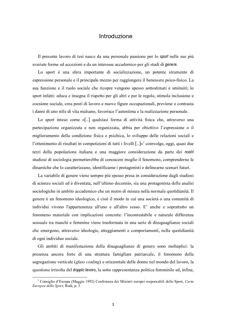 Stereotipi sport-gendered. Uno studio quantitativo del fenomeno sportivo in ambiente scolastico e agonistico - Tesi di L...