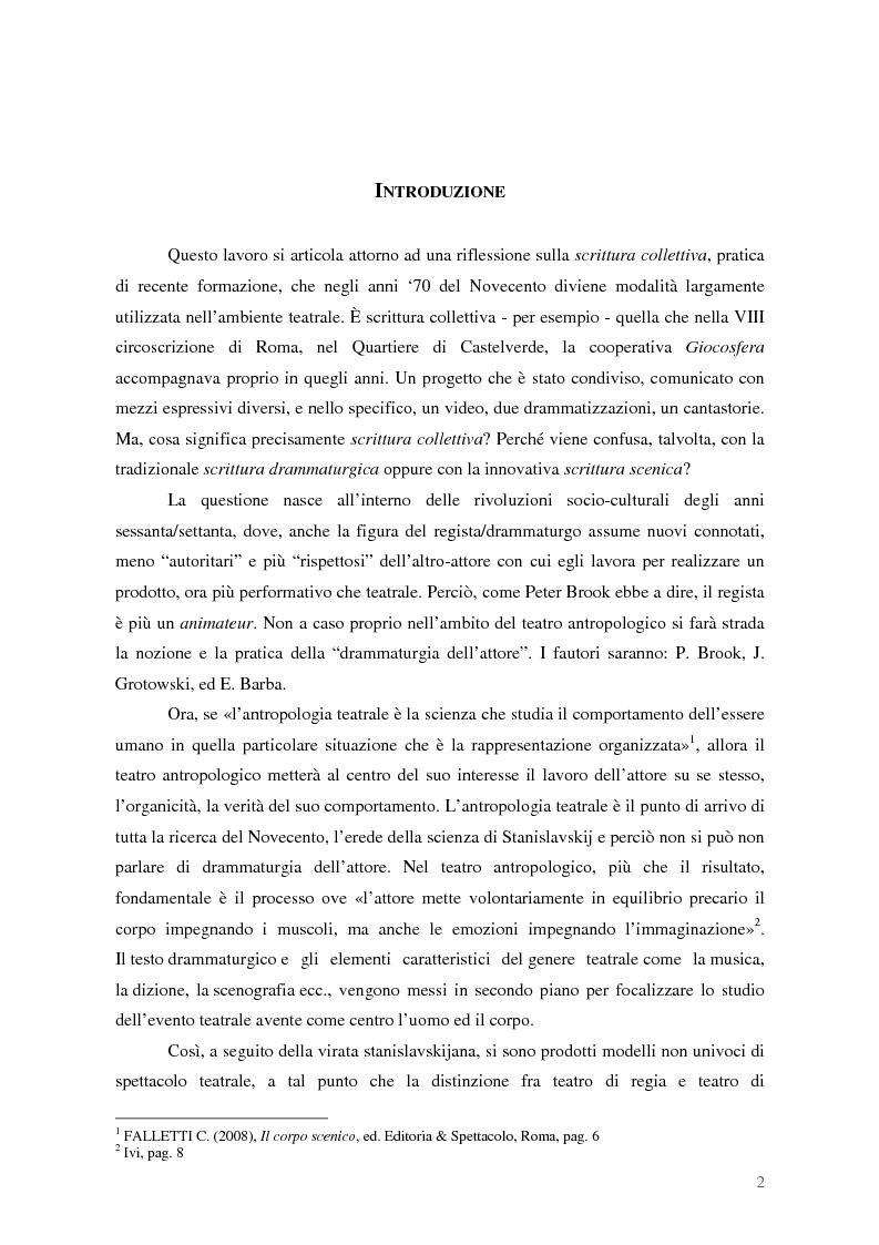 La Scrittura Collettiva nei Laboratori di Scrittura e Teatro - Tesi di Laurea