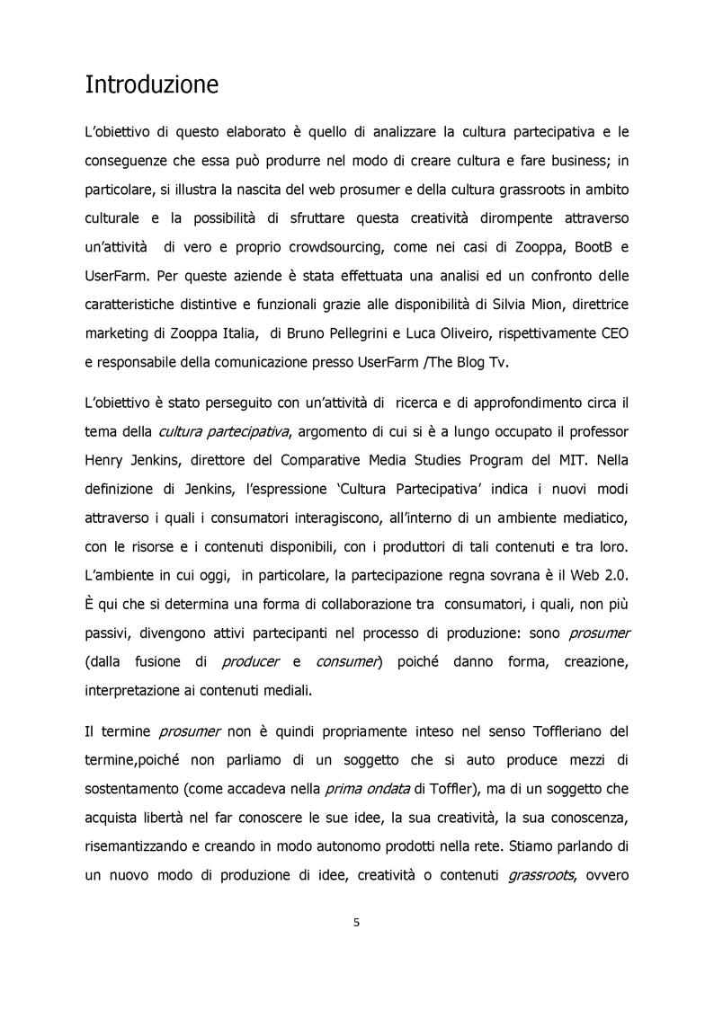 La Cultura Partecipativa: analisi del fenomeno e degli effetti nell'industria produttiva e culturale - Tesi di Laurea