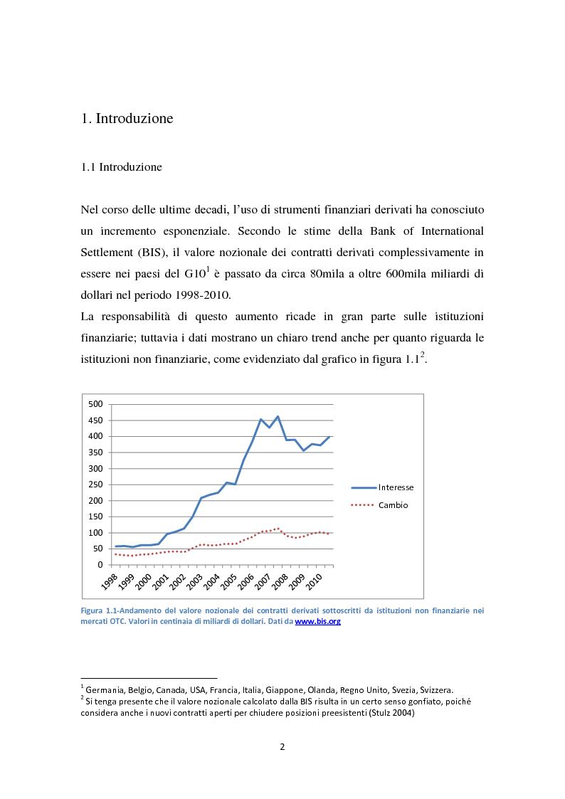 Hedging e valore dell'impresa - Tesi di Laurea