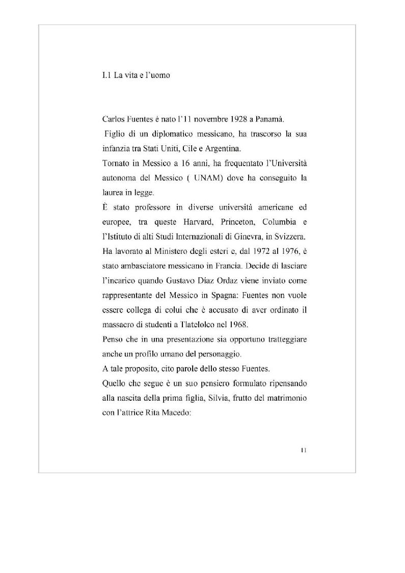Anteprima della tesi: La messicanità in Carlos Fuentes, Pagina 8