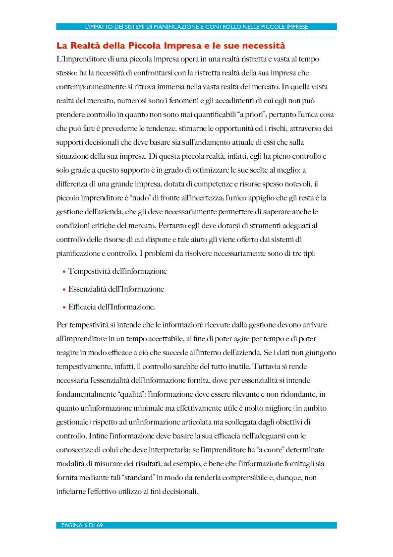 Anteprima della tesi: L'impatto dei Sistemi di Pianificazione e Controllo nelle PMI, Pagina 7