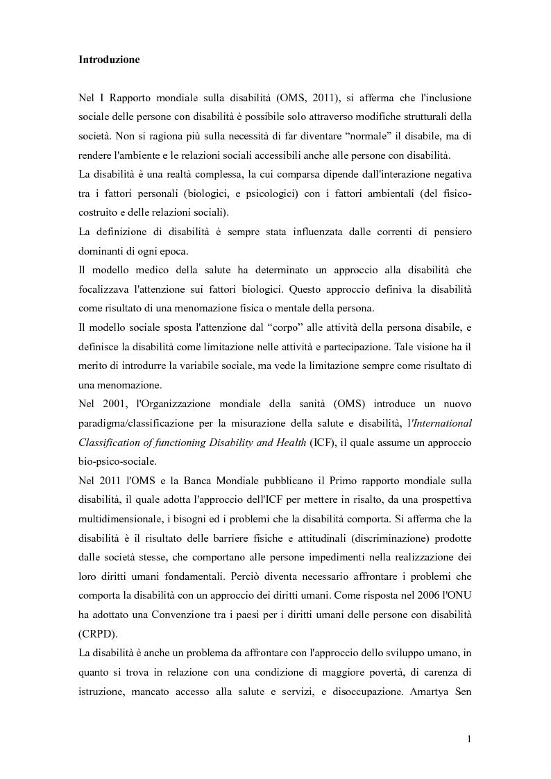 Anteprima della tesi: Disabilità e intervento sociale: nuovi approcci internazionali, Pagina 2