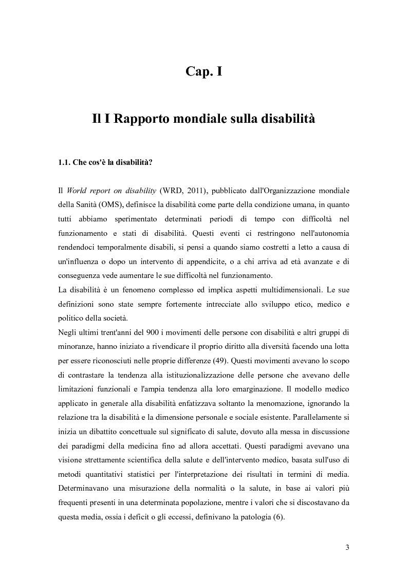 Anteprima della tesi: Disabilità e intervento sociale: nuovi approcci internazionali, Pagina 4