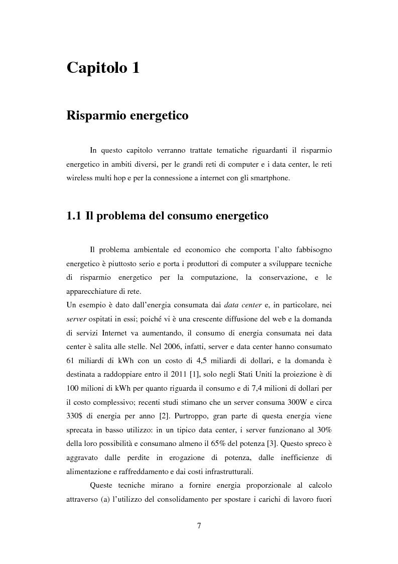 Il risparmio energetico e il recupero di energia nelle reti di telecomunicazioni - Tesi di Laurea