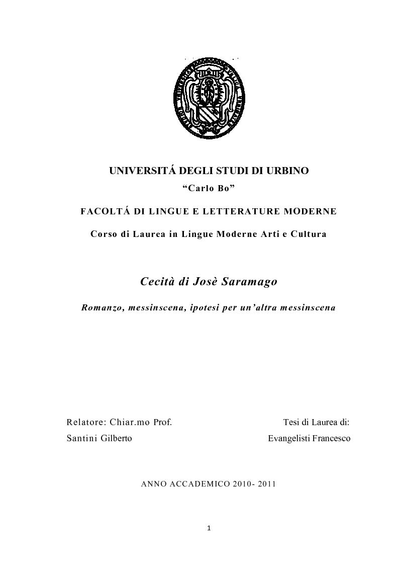 Cecita Saramago Pdf