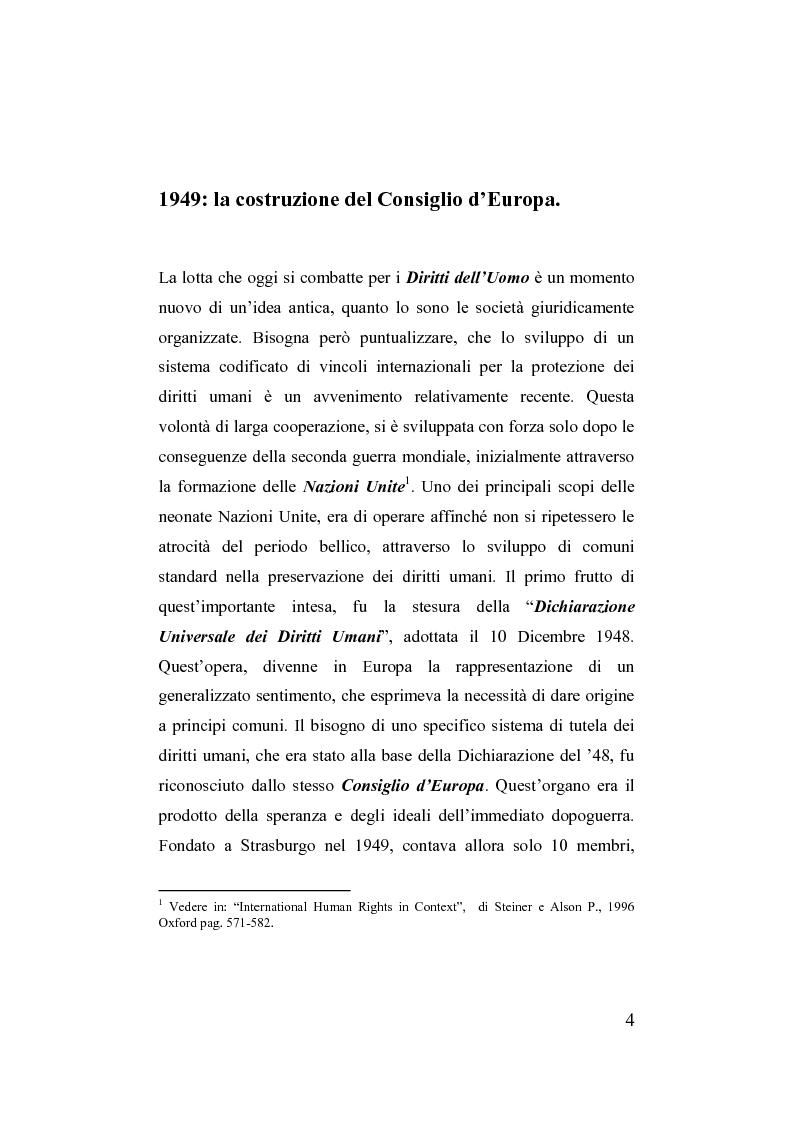 Anteprima della tesi: Unione europea e diritti dell'uomo, Pagina 1