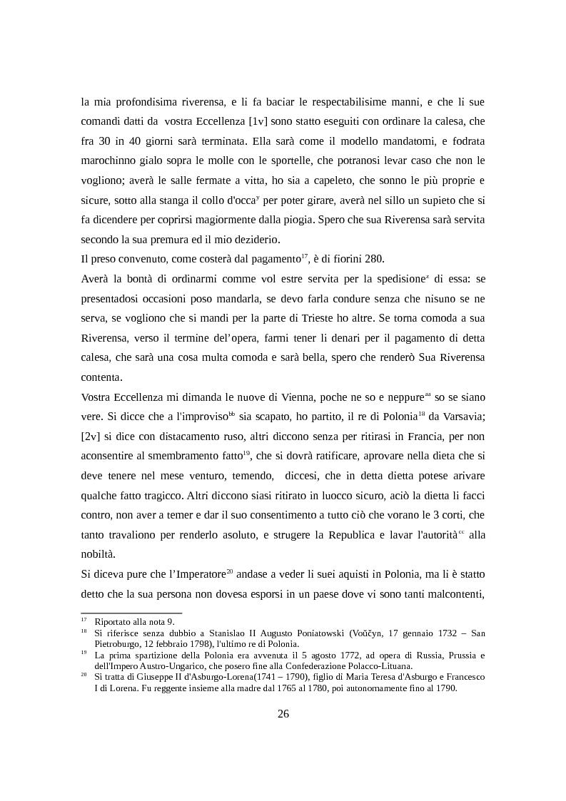 Estratto dalla tesi: Un epistolario settecentesco. Lettere di Antonio Douret al conte Rodolfo Varano da Camerino. (Vienna - Ferrara, 1772 - 1791)