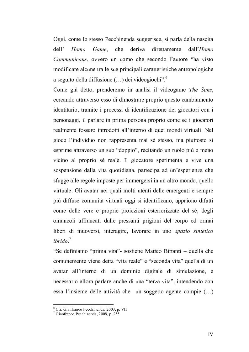 Anteprima della tesi: The Sims Legacy. Le trasformazioni dell'identità nell'epoca contemporanea., Pagina 5