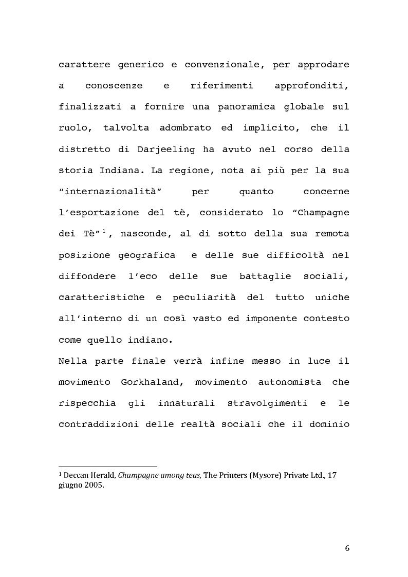 Anteprima della tesi: Economia coloniale e sfruttamento in India nel XX sec. Un caso particolare: la regione del Darjeeling., Pagina 4