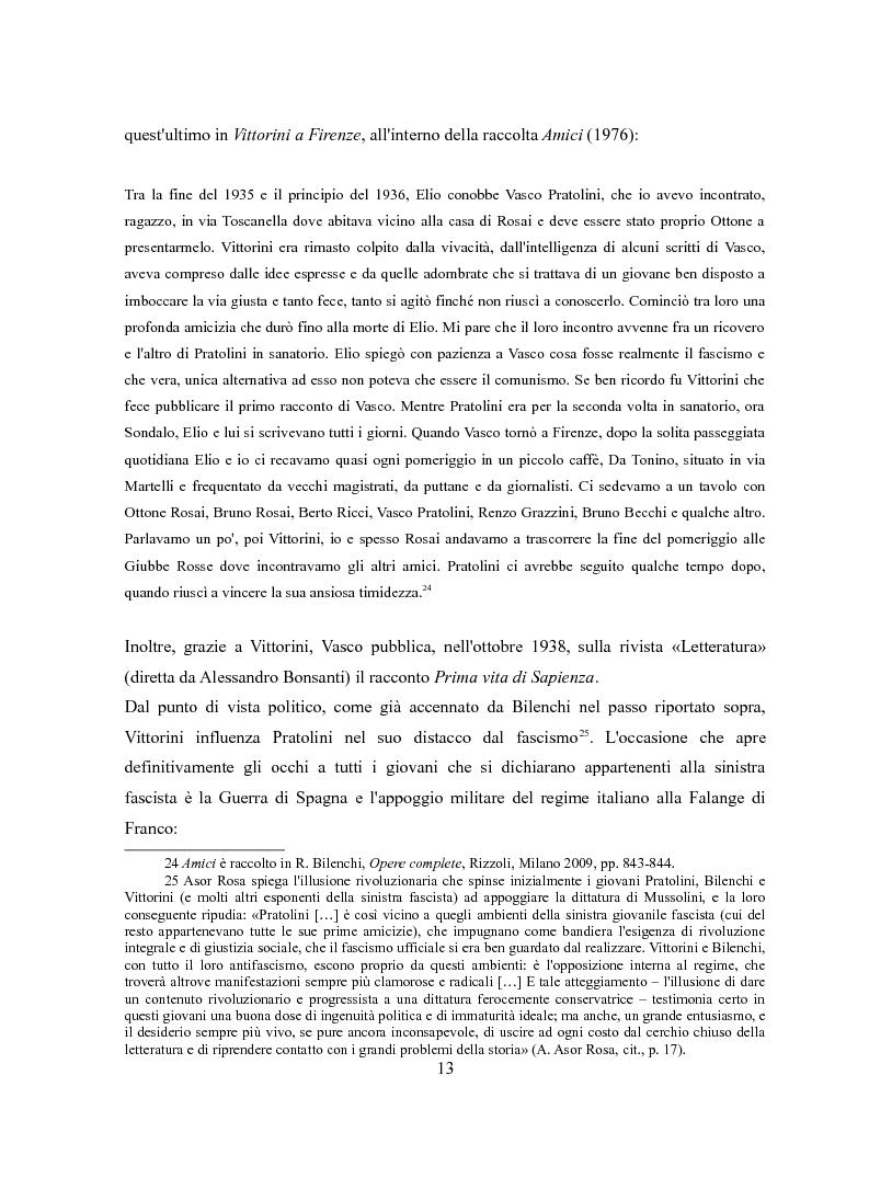 Anteprima della tesi: Vasco Pratolini e il cinema. Quattro casi di adattamento, Pagina 11