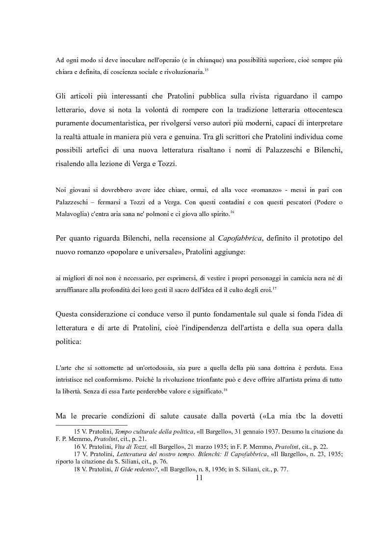 Anteprima della tesi: Vasco Pratolini e il cinema. Quattro casi di adattamento, Pagina 9