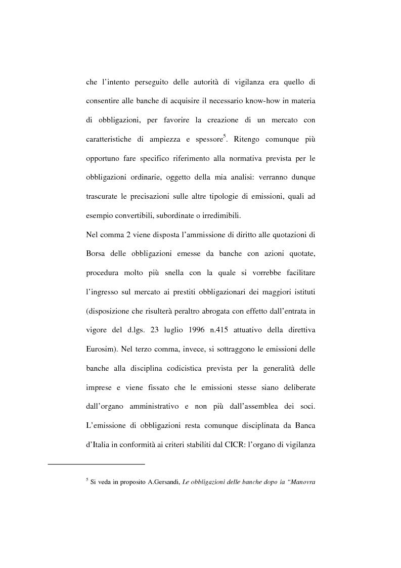 b954dc8681 Anteprima della tesi: L'emissione di obbligazioni da parte delle banche: una  verifica. «