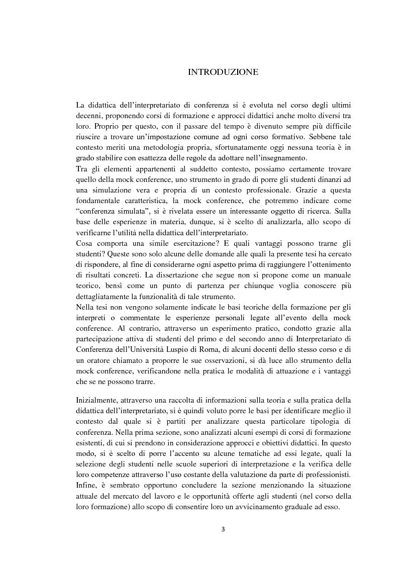 La Mock Conference, strumento utile alla didattica dell'interpretariato? - Tesi di Laurea