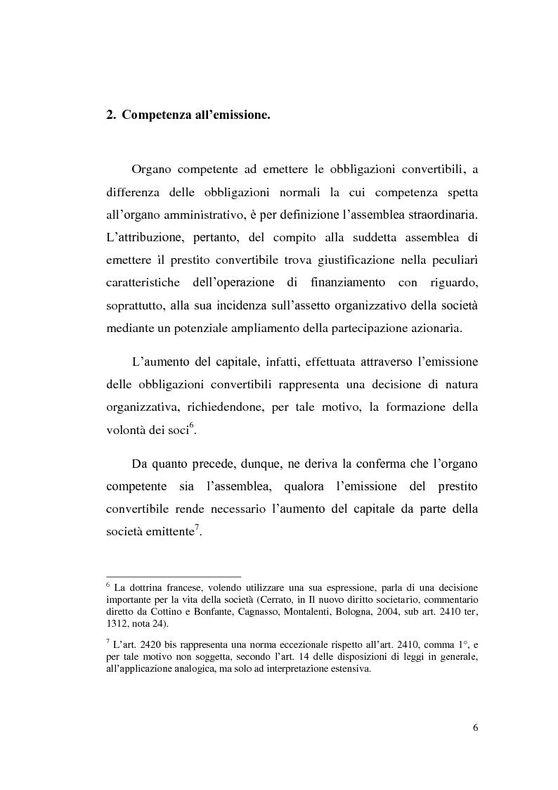 114ceb6430 Anteprima della tesi: Le obbligazioni convertibili, Pagina 5. «