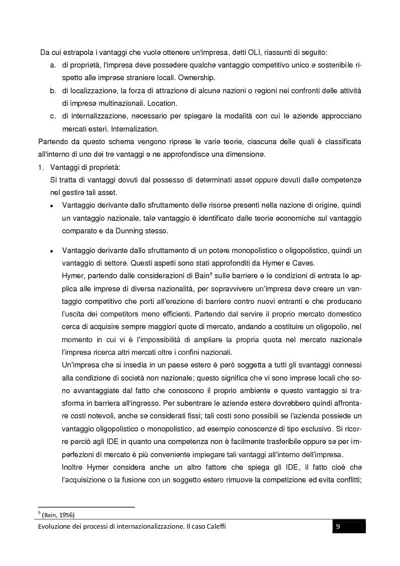 Anteprima della tesi: Evoluzione dei processi di internazionalizzazione. Il caso Caleffi, Pagina 7