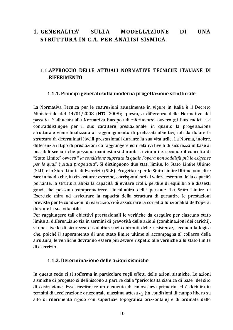 Gli effetti della tompagnatura nella progettazione strutturale antisismica - Tesi di Laurea