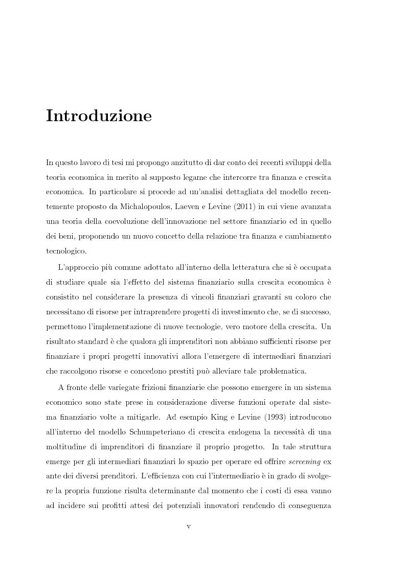 Anteprima della tesi: Innovazione finanziaria e crescita economica: un approccio teorico, Pagina 4