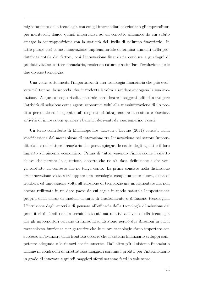 Anteprima della tesi: Innovazione finanziaria e crescita economica: un approccio teorico, Pagina 6