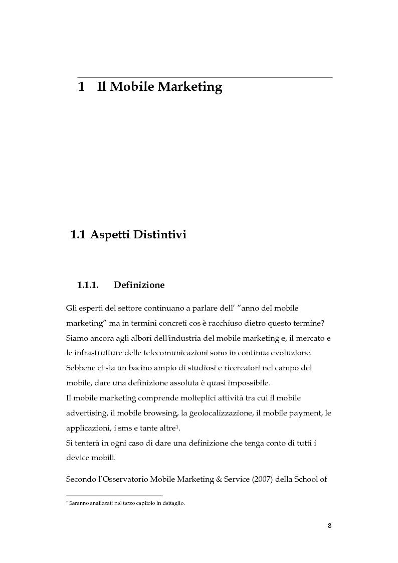 L'era del mobile marketing - Tesi di Laurea