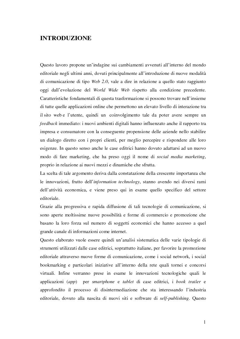 Nuove forme di comunicazione editoriale - Tesi di Laurea
