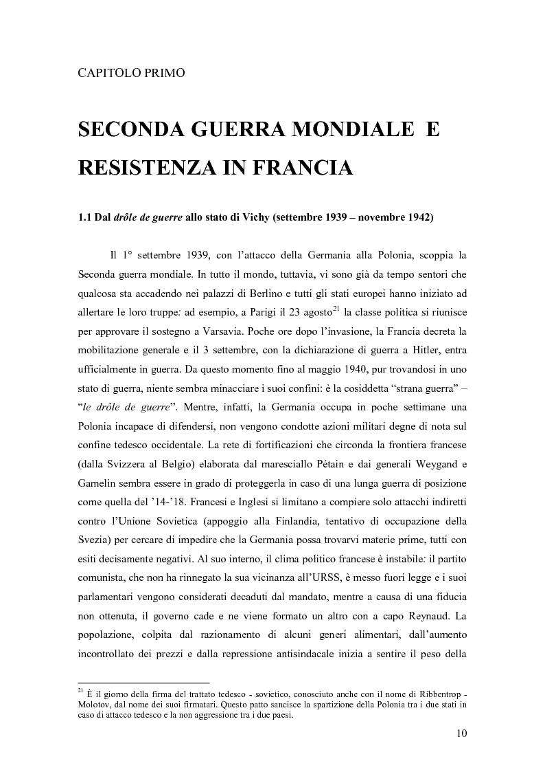 Anteprima della tesi: Vercors: le diverse forme della Resistenza attraverso una lettura dei romanzi, Pagina 11