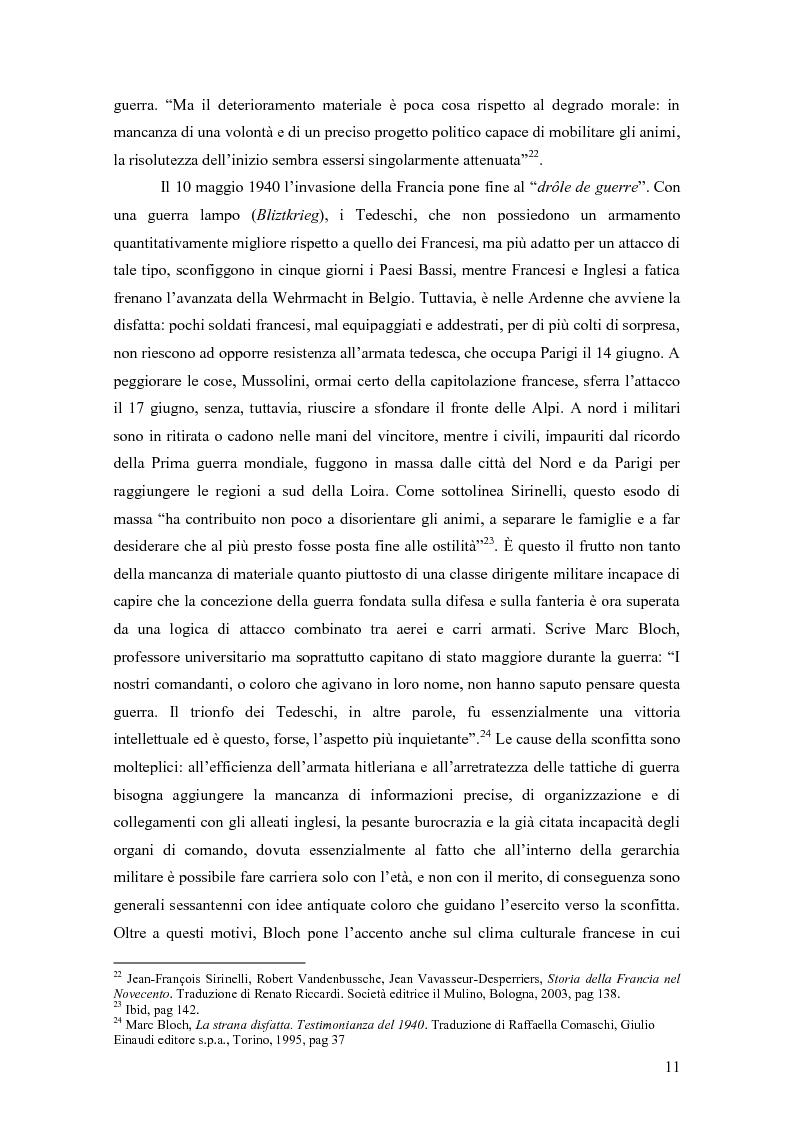 Anteprima della tesi: Vercors: le diverse forme della Resistenza attraverso una lettura dei romanzi, Pagina 12