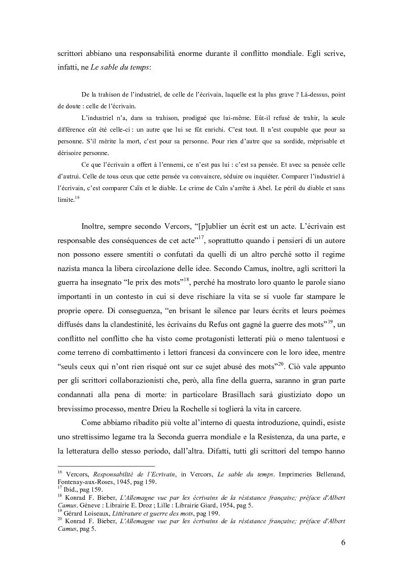 Anteprima della tesi: Vercors: le diverse forme della Resistenza attraverso una lettura dei romanzi, Pagina 7