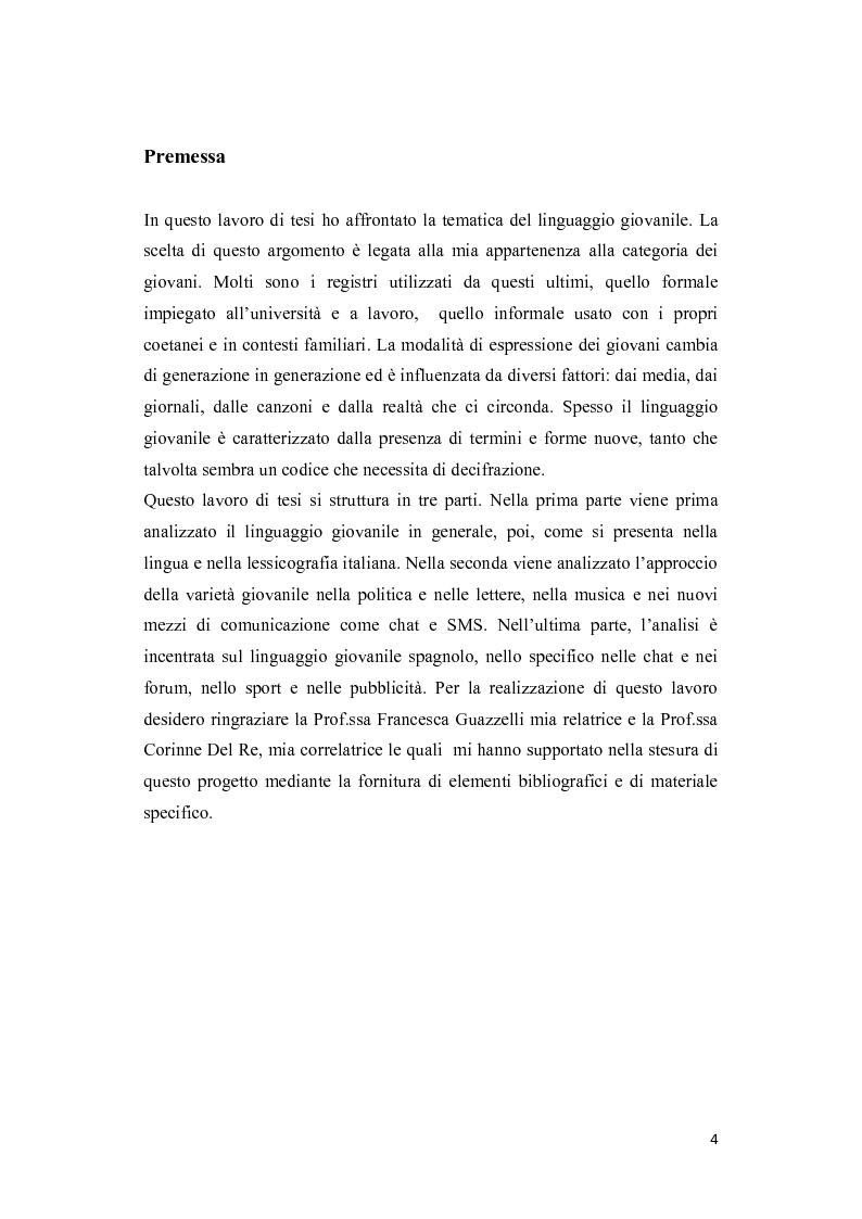Il linguaggio giovanile: italiano e spagnolo a confronto - Tesi di Laurea