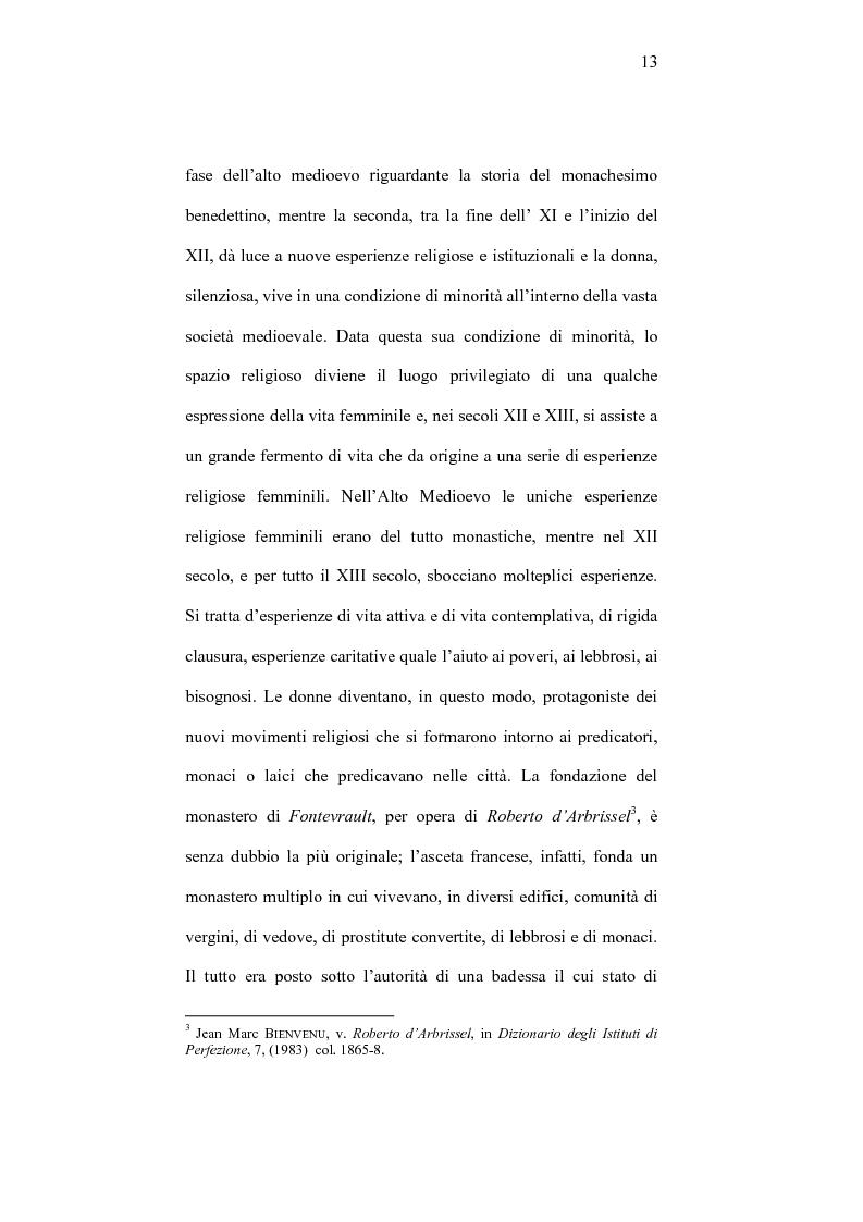 Anteprima della tesi: I frati minori e la cura monialium nella vicenda di Chiara d'Assisi e la comunità di san Damiano, Pagina 10