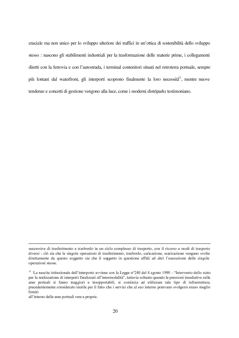 Anteprima della tesi: Inland terminals, interporti, distriparks come fattori di organico sviluppo decentrato del territorio e dell'economia dei trasporti, Pagina 13