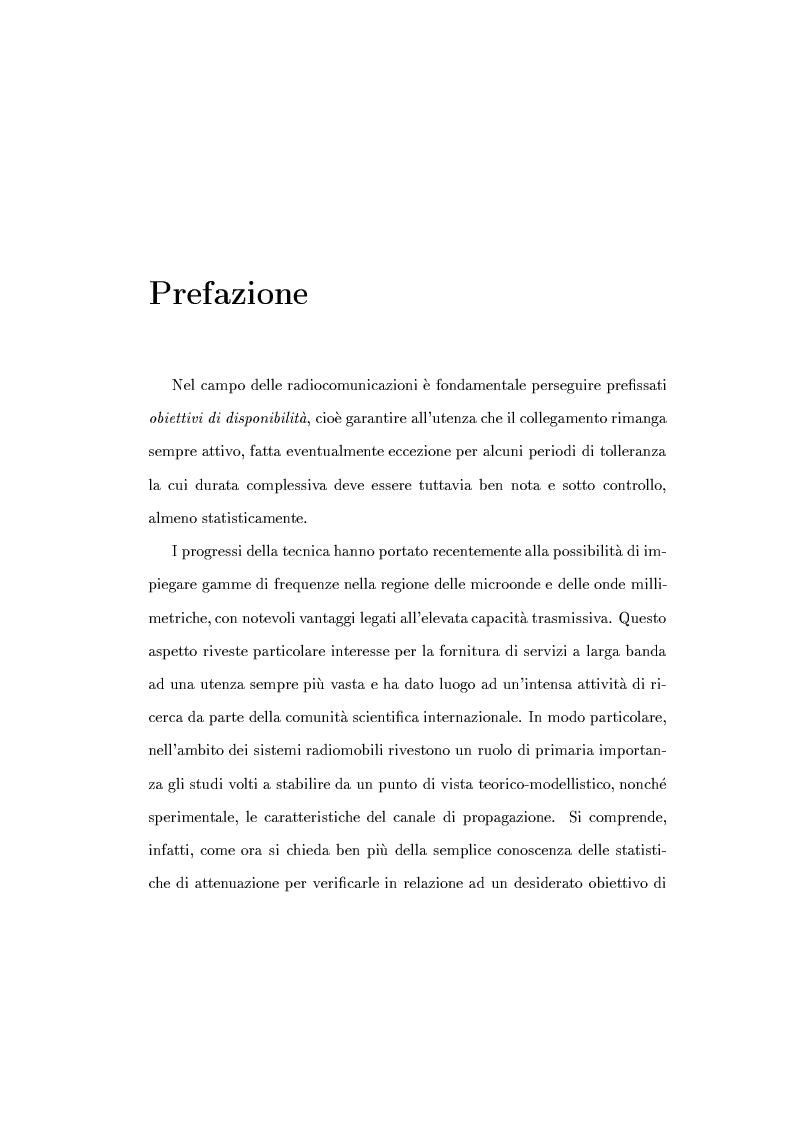 Anteprima della tesi: Caratterizzazione della probabilità di fuori servizio in una rete radiomobile cellulare, Pagina 1
