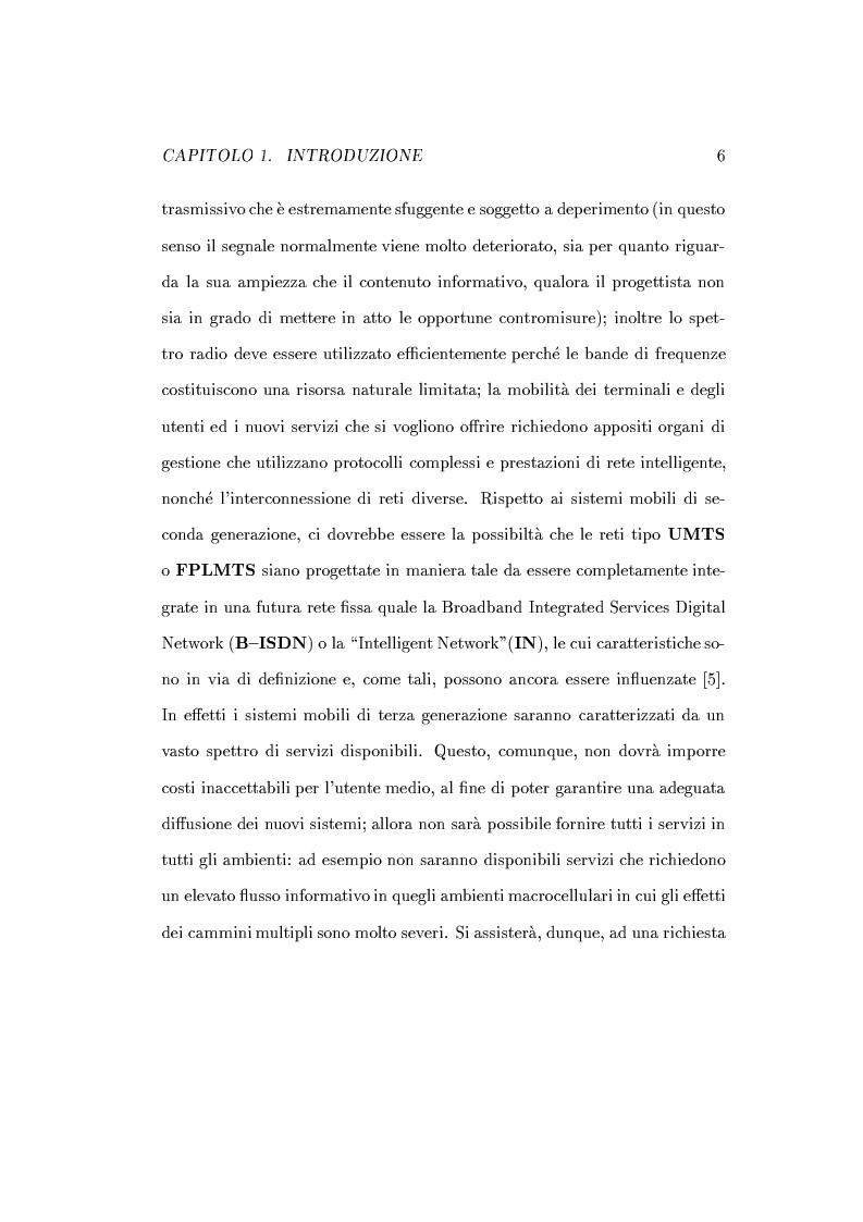 Anteprima della tesi: Caratterizzazione della probabilità di fuori servizio in una rete radiomobile cellulare, Pagina 10