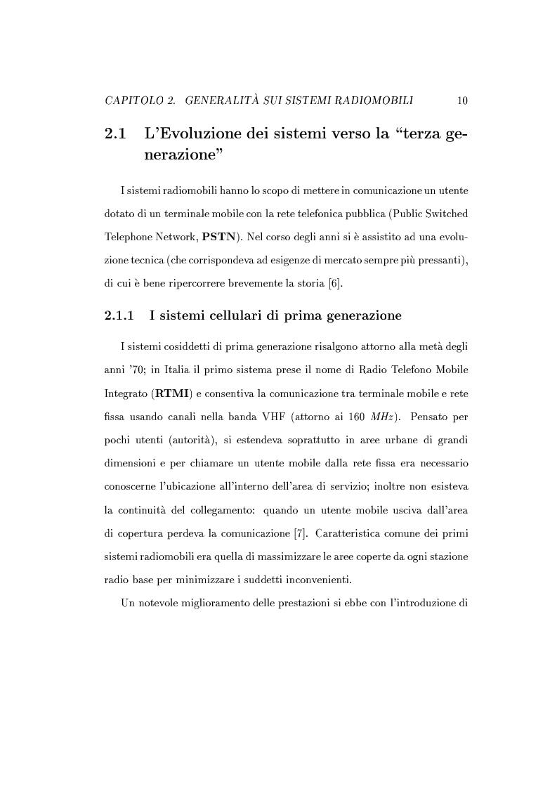 Anteprima della tesi: Caratterizzazione della probabilità di fuori servizio in una rete radiomobile cellulare, Pagina 14