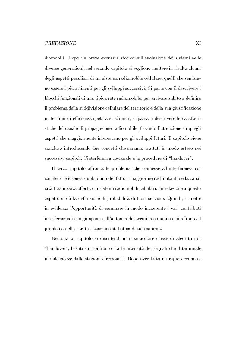 Anteprima della tesi: Caratterizzazione della probabilità di fuori servizio in una rete radiomobile cellulare, Pagina 3