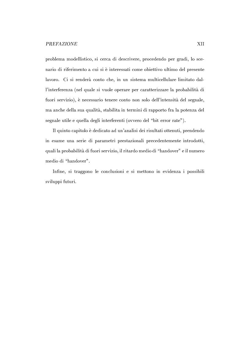 Anteprima della tesi: Caratterizzazione della probabilità di fuori servizio in una rete radiomobile cellulare, Pagina 4